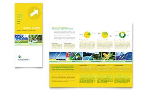 environmental conservation tri fold brochure template design