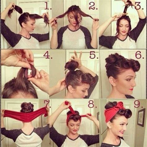 Step By Step Vintage Hairstyles | pin up hair step by step pictorial vintage retro