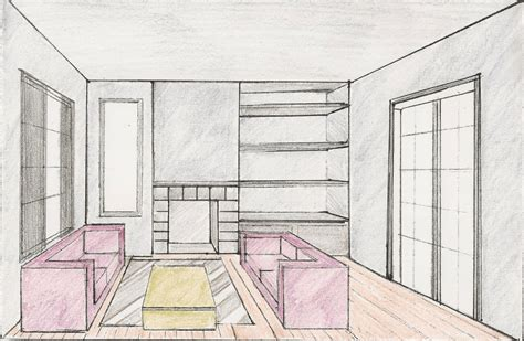bedroom design drawings bedroom drawing one point perspective