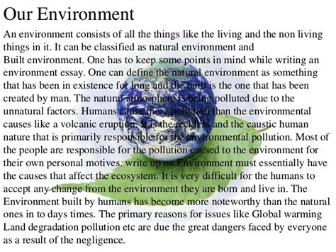 Essay About Environmental Problems by Environment Pollution