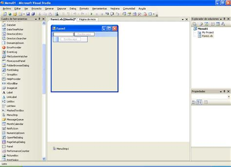 imagenes visual basic el tony y sus ondas menus en visual basic net y 2005