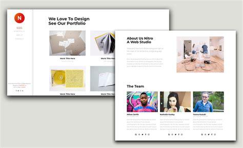 Download Free Html5 Template For Portfolio Website Design Left Side Menu Website Templates Free