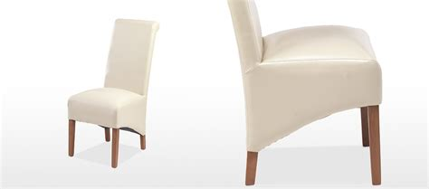 Beige Leather Dining Chairs Cube Sheesham Bonded Leather Dining Chairs Beige Pair Quercus Living