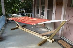 wooden hammock stand signals