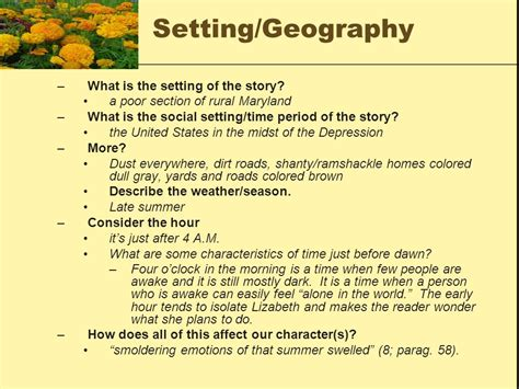 themes of the story marigolds understanding marigolds ppt video online download