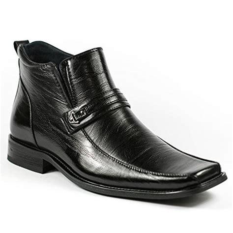 mens square toe dress boots delli aldo m 689 black mens square toe dress ankle boots