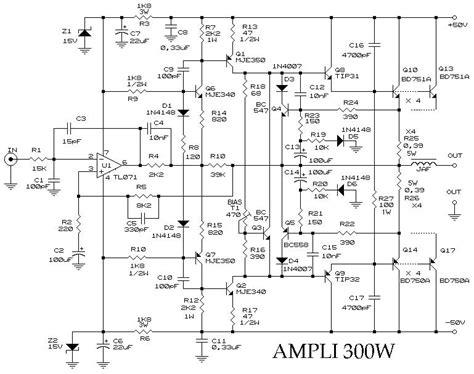 transistor mosfet j50 li 300w diyaudio