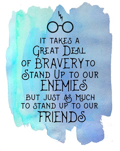it takes one to one books harry potter watercolor quote printables enemies harry