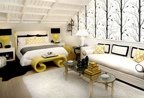 black and white and yellow bedroom modern yellow black white bedroom decor panda s house