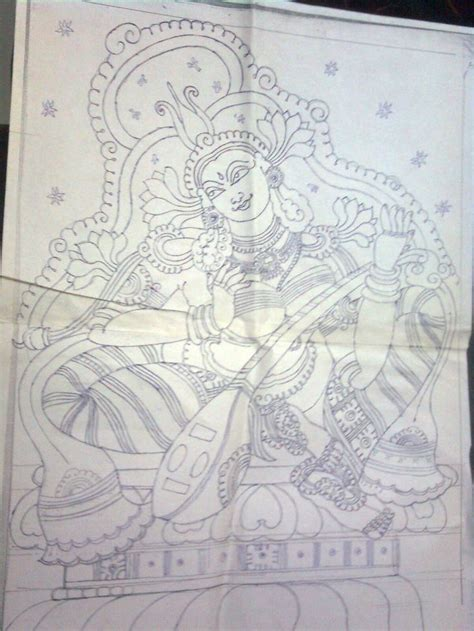 Mural Designs Outline 45 best images about painting on feathers murals and krishna