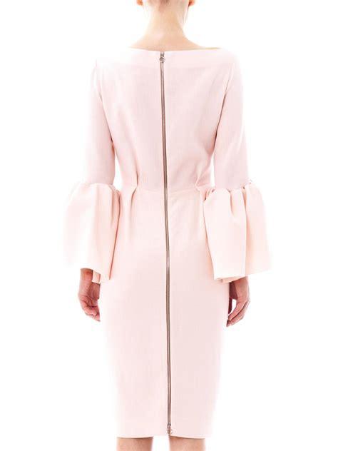 Margo Dress Pink roksanda margot wool crepe dress in pink lyst