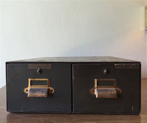 Vintage Index Card Cabinet by Vintage Green Metal Index Card Cabinet Natham By