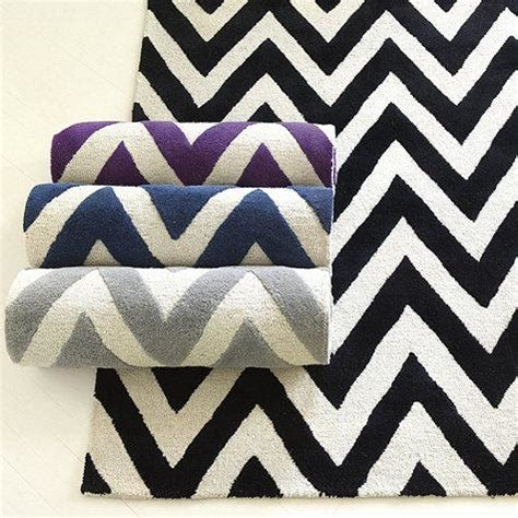 white chevron rug chevron stripe tufted rug ballard designs