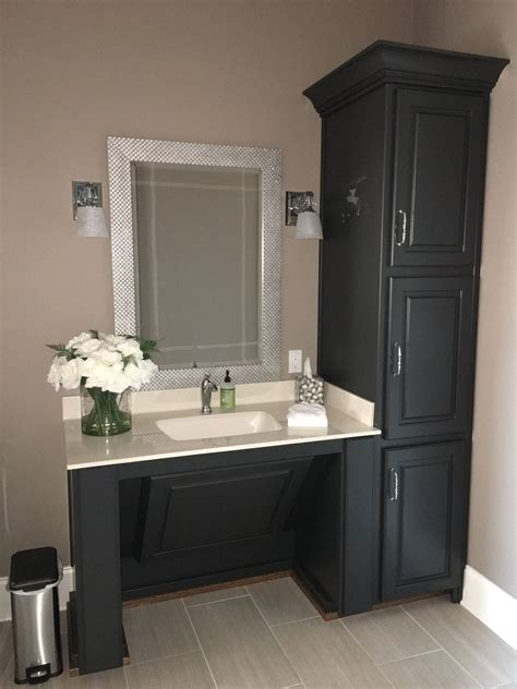 accessible vanity painted bm wrought iron walls sw sticks