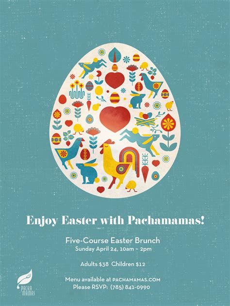 posters for easter brunch pachamamas