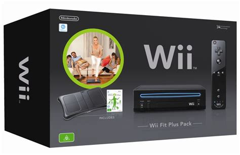 nintendo wii console bundle with wii fit plus pack nintendo wii console black wii fit plus bundle the