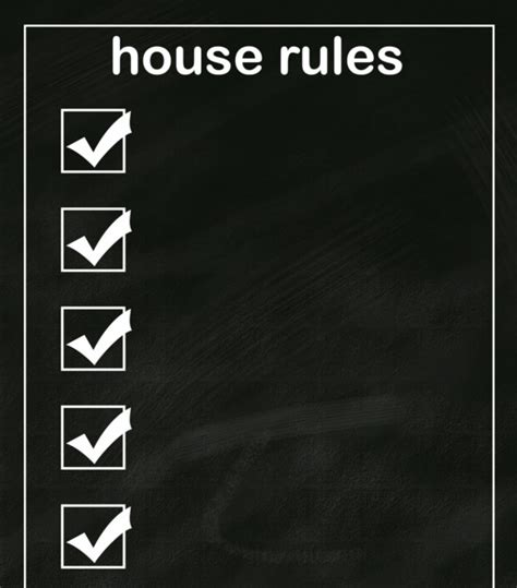 house rules design ideas house rules template images templates design ideas