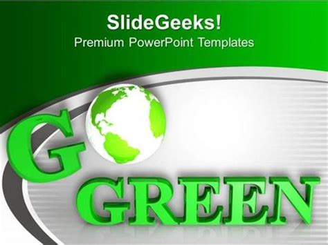 Green Energy Be Eco Friendly Save Environment Ppt Template Powerpoint Template Saving Powerpoint Templates