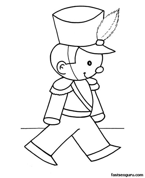 toy soldier coloring pages