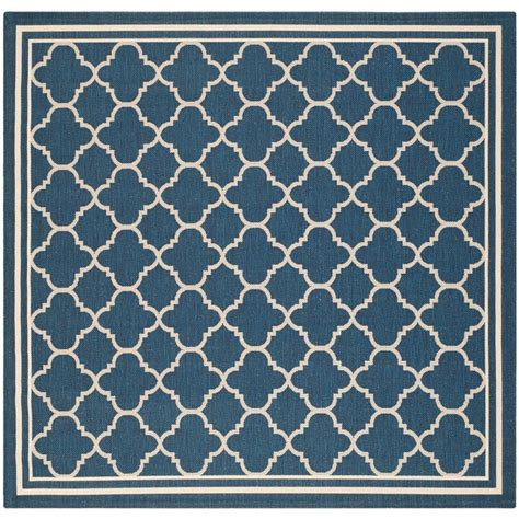 Navy And Beige Area Rugs Safavieh Courtyard Navy Beige 4 Ft X 4 Ft Indoor Outdoor Square Area Rug Cy6918 268 4sq The