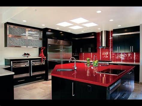 cocinas modernas de color rojo  isla americanas
