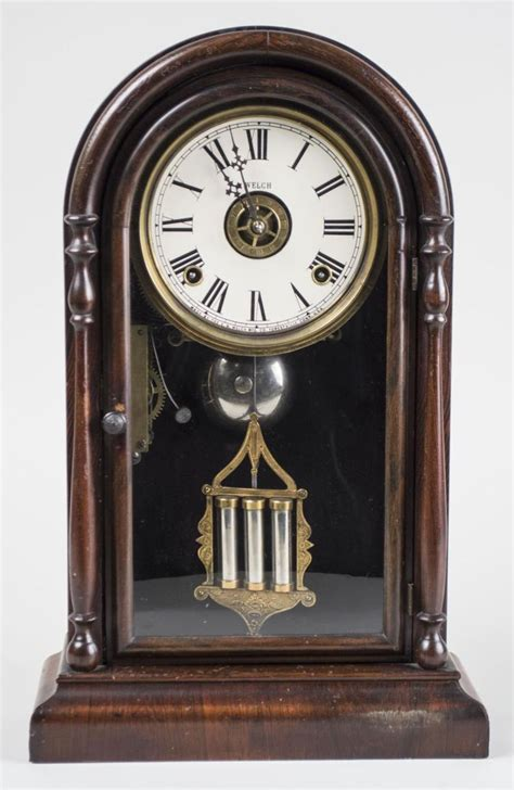 e n welch clock co shelf clock