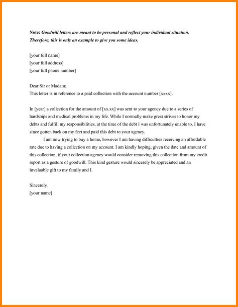 Sle Goodwill Letter Ideal Template Credit Inquiry Removal Scholarschair Credit Inquiry Removal Letter Template