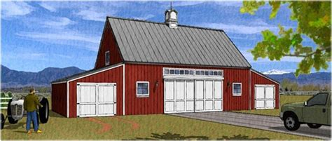 Country Garage Plans by Barn Plans Country Garage Plans And Workshop Plans