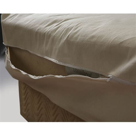 Zippered Mattress Cover by Unbleached 100 Cotton Mattress Cover With Zipper Ebay
