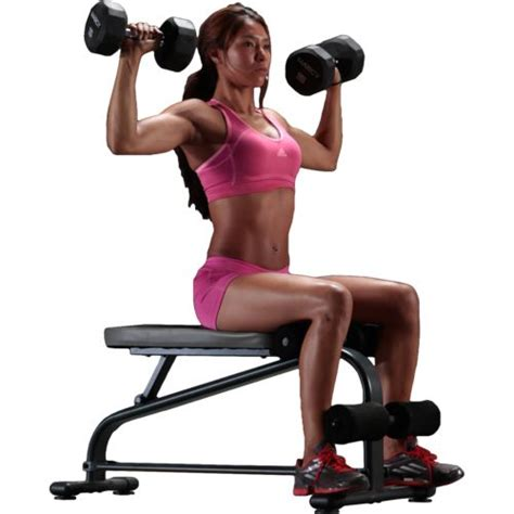 dumbbell and bench set marcy specialty weight bench with 40 lb vinyl dumbbell