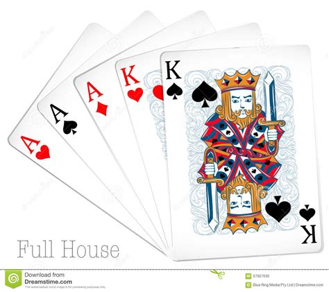 what is a full house in poker poker cards full house stock vector image 57657630