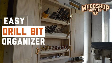 diy drill bit storage  organizer cabinet  folding