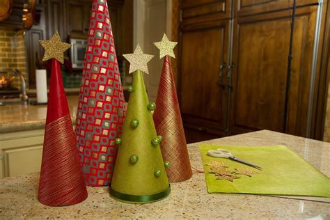 wrapping paper christmas trees let s craft with