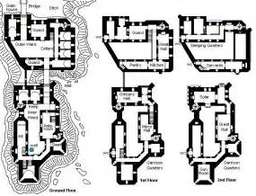 castle style floor plans inner keep outer keep without a large curtain wall on
