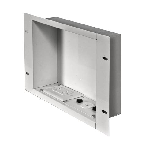 recessed outlet for ac adapter peerless large recessed cable management box with power