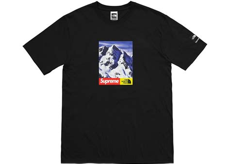 supreme t shirt sale supreme the mountain black