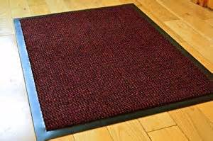 Rubber Backed Kitchen Rugs Medium Black Non Slip Door Mat Rubber Backed Runner Barrier Mats Rug Pvc Edged