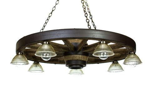 large wagon wheel chandelier with downlights cast horn