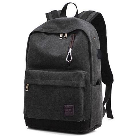 jual tas ransel travel backpack oxford  usb charger