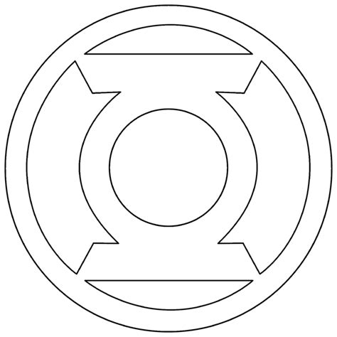symbol templates green lantern corps symbol outline by mr droy comic book