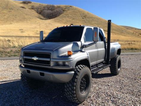 purchase   chevy kodiak  duramax diesel  monster crew cab   military tires