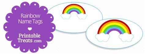 free printable rainbow name tags free printable rainbow name tags printable treats com
