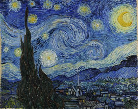 starry night the starry night 1889 vincent van gogh wikiart org