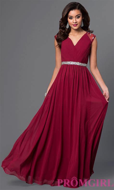 Sleeve V Neck Dress v neck prom dress with cap sleeves promgirl