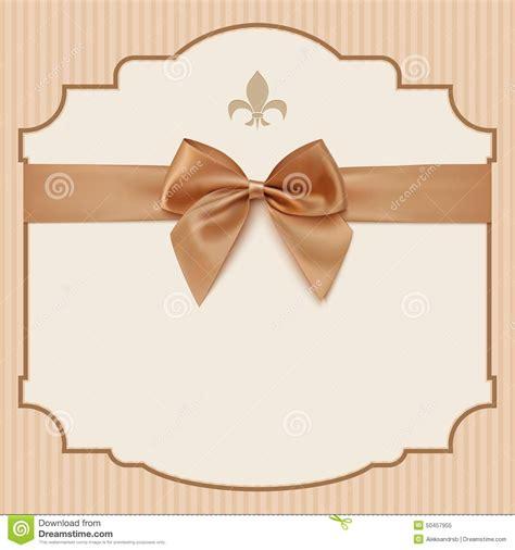 ribbon design for invitation card bow wedding invitation card vintage greeting card stock