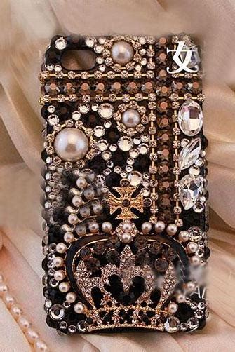 Oppo R7 Luxury Pearl Crown Bling Casing Cover Ring Soft iphone 5c iphone 5s iphone 5 white