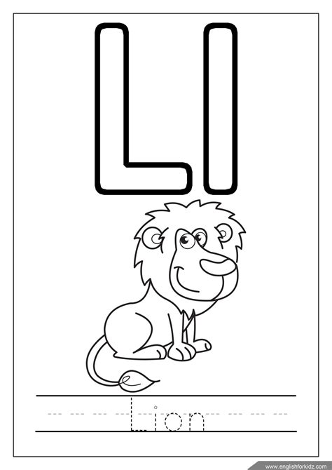 Alphabet L Coloring Pages by Alphabet Coloring Pages Letters K T