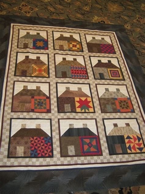 quilt pattern house free 1000 afbeeldingen over quilts houses op pinterest