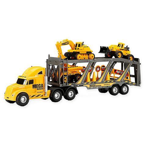 bright  wheel mega construction hauler playset