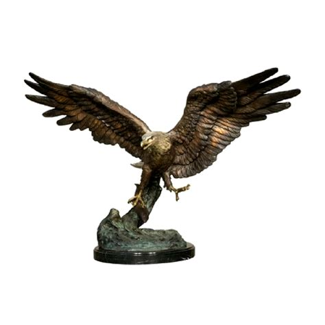bronze flying eagle sculpture metropolitan galleries inc